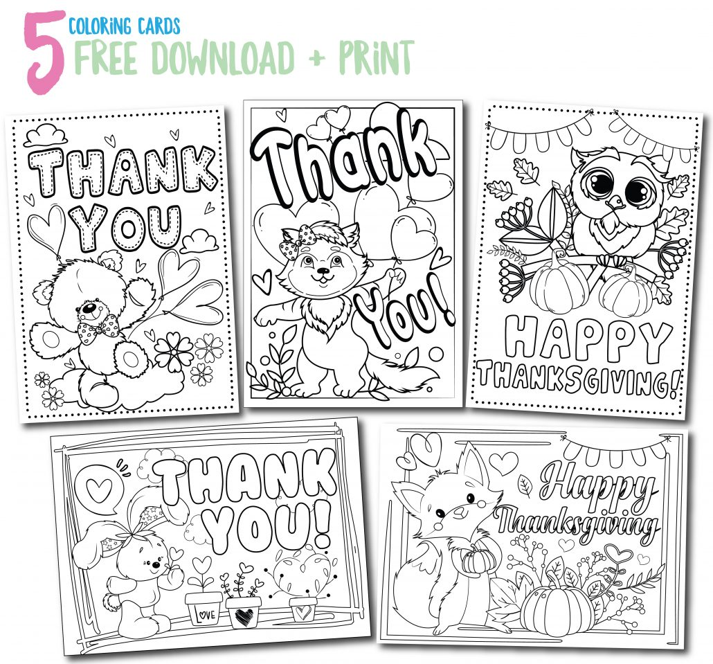 coloring pages thank you card - photo#18