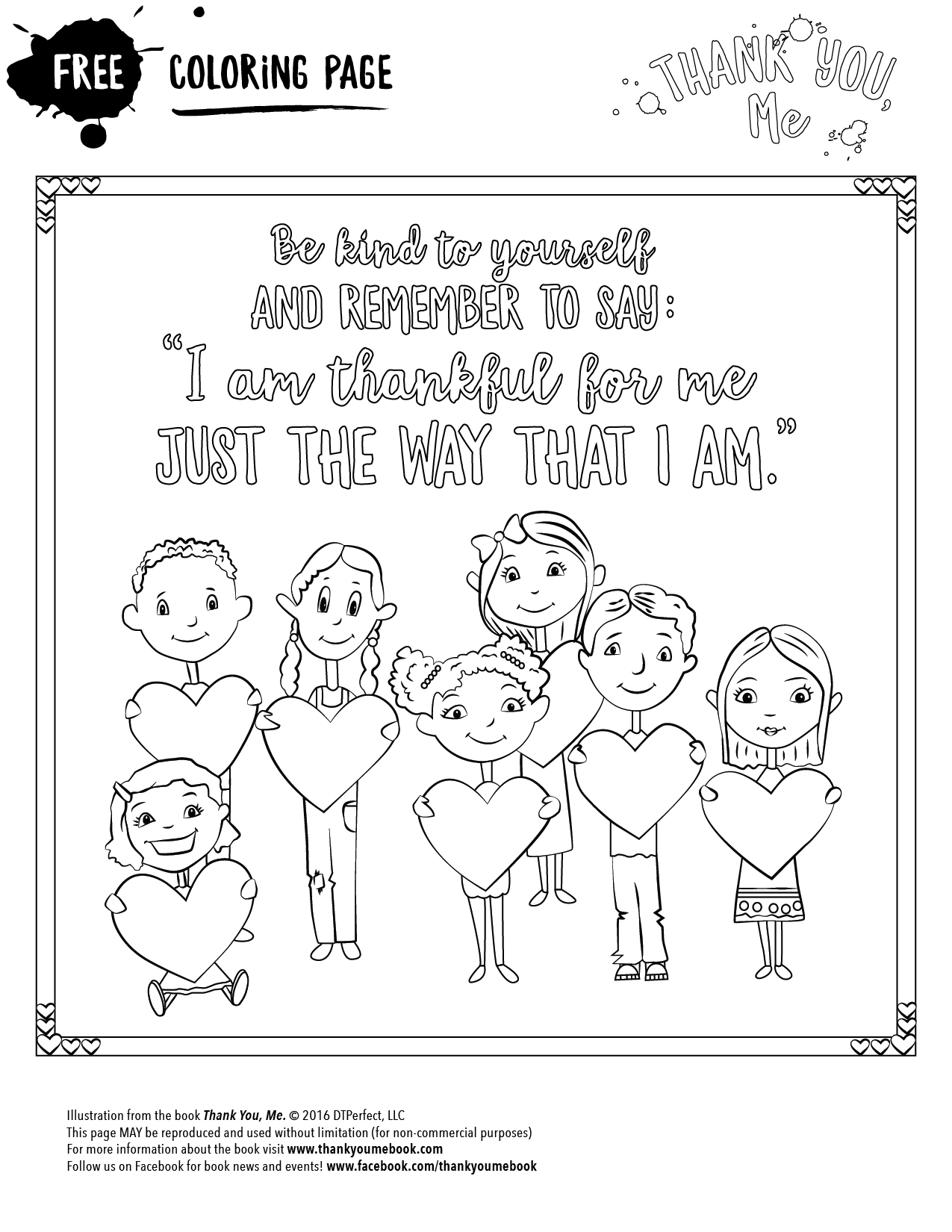 Be Kind Coloring Page Thank You Me
