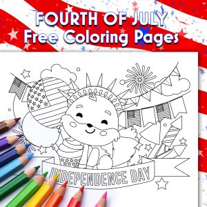 4th of July Free Coloring