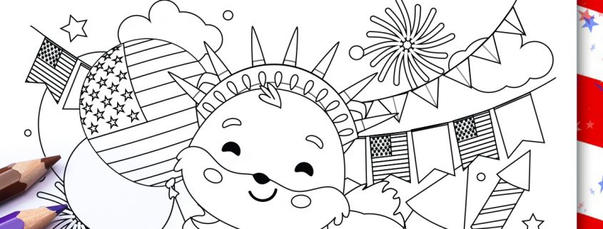 Free, Printable 4th of July Coloring Pages for Kids | 321x845